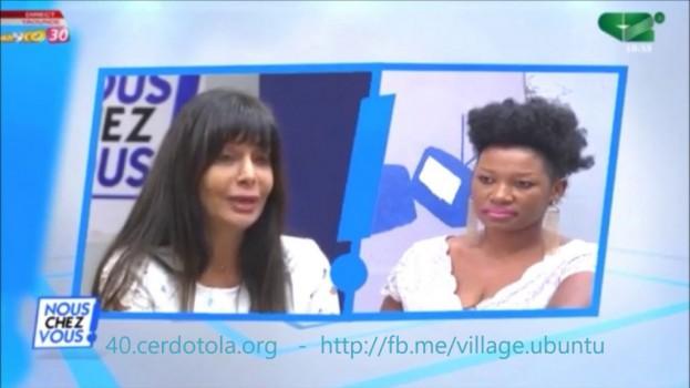 """Célébration des 40 ans du CERDOTOLA: Suzanne Kabbani était l'invitée de l'émission """"Nous Chez Vous"""" sur Canal 2 International"""