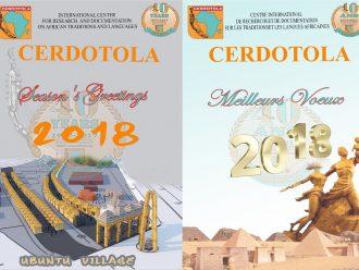 CERDOTOLA : MEILLEURS VŒUX – BEST WISHES 2018
